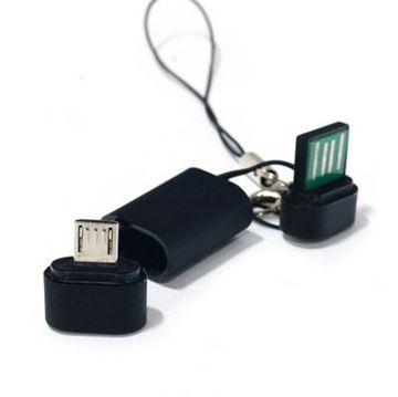 Adapter SCYTHE Micro USB Compact Cable Strap, USB A (M) na MicroUSB-B (M), u obliku privjeska za ključeve