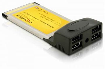 Adapter PCMCIA DELOCK, za USB 2.0, 4 porta