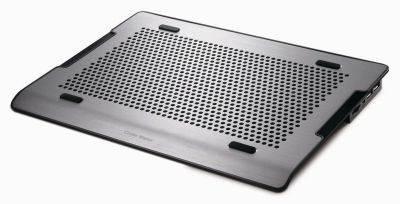 "Hlađenje za notebook COOLERMASTER NotePal A200, do 16"", 2x USB, miniUSB, poteciometar za regulaciju, crno"