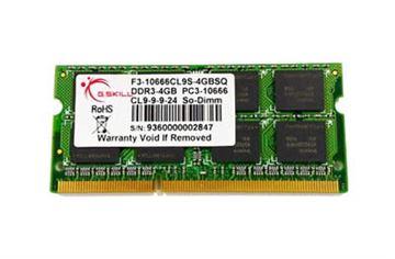 Memorija SO DIMM PC-10666, 2 GB G.SKILL F3-10666CL9S-2GBSQ, DDR3 1333 MHz