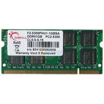 Memorija SO DIMM PC-5300, 1 GB, G.SKILL, F2-5300PHU1-1GBSA, DDR2 667MHz