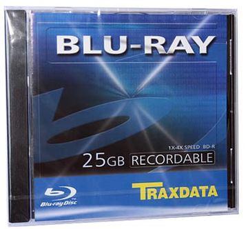 Medij BD-R TRAXDATA 4x, Blu-Ray, 25GB, komad