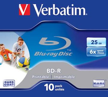 Medij BD-R VERBATIM 6x, Blu-Ray, 25GB, komad