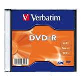 Medij DVD-R VERBATIM 16x, 4.7GB, Matt Silver, Single pack Slimcase, komad