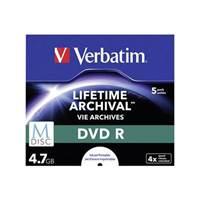 Medij DVD+R Verbatim 4x, 4.7GB, M-Disc, Printable, komad