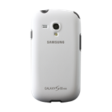 Cover SAMSUNG, za Galaxy S III mini, silikonski, bijeli