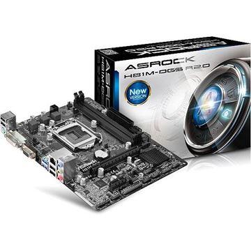 Matična ploča ASROCK H81M-DGS R2.0, iH81, DDR3, zvuk, S-ATA, G-LAN, PCI-E, DVI, D-SUB, USB 3.0, mATX, s. 1150