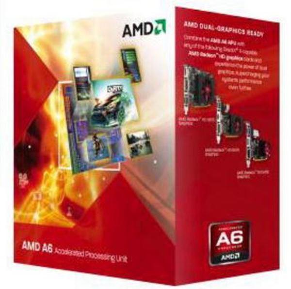 Procesor AMD A6 3500 BOX, s. FM1, 2.1GHz, 3MB, GPU 6530D, Triple Core