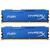 Memorija PC-14900, 8 GB, KINGSTON HyperX Fury Blue HX318C10FK/8 DDR3 1866MHz, kit 2x4GB
