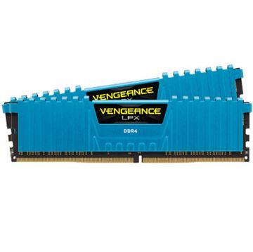 Memorija PC-24000, 16 GB, CORSAIR CMK16GX4M2B3000C15B VengeanceLPX blue, DDR4 3000Mhz, 2x8GB kit