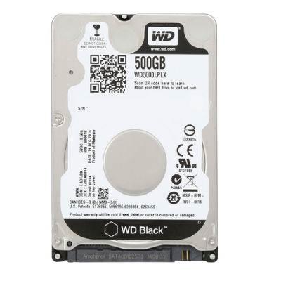 """Tvrdi disk 500.0 GB WESTERN DIGITAL Black, WD5000LPLX, SATA3, 32MB cache, 7.200okr./min, 2.5"""", za notebook"""