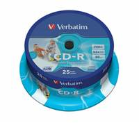 Medij CD-R VERBATIM 52x, 700MB, DataLife, Printable, spindle 25 komada