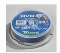 Medij DVD-R TRAXDATA 16x, 4.7GB, spindle 10 komada