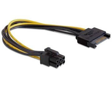 Kabel DELOCK, 15-pin SATA na 6-pin PCI-E, za VGA