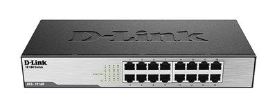Switch D-LINK DES-1016D, 10/100 Mbps, 16-ports