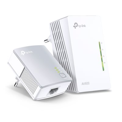 Powerline adapter TP-LINK TL-WPA4220KIT, mreža putem postojećih električnih instalacija, 300Mb WiFi access point, 2xGB LAN, duplo pakiranje