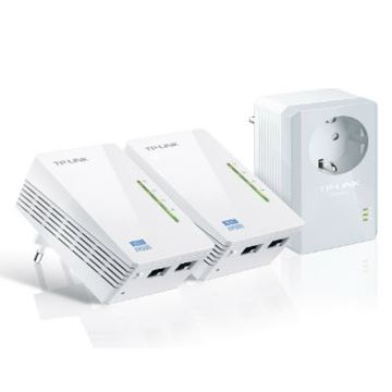 Powerline adapter TP-LINK AV500 TL-WPA4226TKIT, mreža putem postojećih električnih instalacija, WiFi, 3-pack kit
