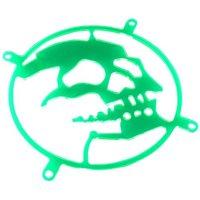Fan Grill BITSPOWER Skull, UV osjetljiv, zeleni, 80mm