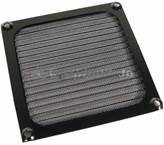 Filter protiv prašine, aluminijski, za ventilator 92mm, crni