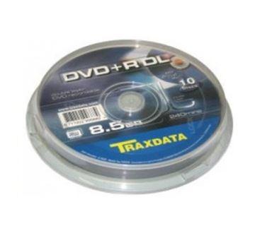 Medij DVD+R TRAXDATA 8x, Dual Layer, 8.5GB, spindle 10 komada