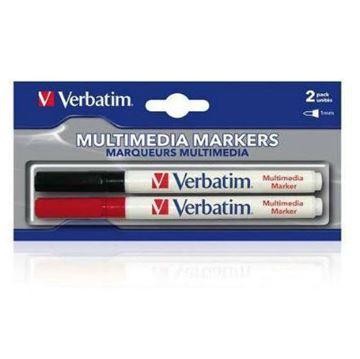 Flomaster Verbatim komplet 2 komada, za CD/DVD (crni+crveni)