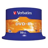 Medij DVD-R VERBATIM 16x, 4.7GB, Matt Silver, spindle, 50 komada