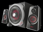 Zvučnici TRUST GXT38, 2.1, crno-crveni