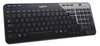 Tipkovnica LOGITECH K360, bežična, crna, Unifying receiver, USB
