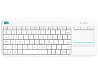 Tipkovnica LOGITECH K400+ Wireless Touch, bežična, bijela, unifying, USB