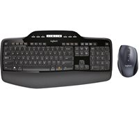 Tipkovnica + miš LOGITECH Wireless Desktop MK710, bežična, crna, Unifying receiver USB, retail