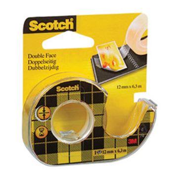 Ljepljiva traka Scotch 136D, 12mm x 6,3m, dvostruko ljepljiva