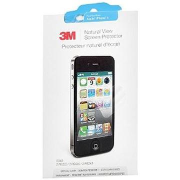 Zaštita za ekran 3M Natural View Screen Protector Apple iPhone 4 + zaštita poleđine