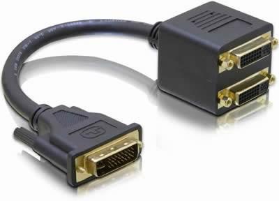 Adapter DELOCK, DVI (M) na 2x DVI (Ž)