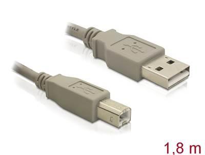 Kabel DELOCK, USB 2.0, USB-A (M) na USB-B (M), 1.8m (za printer)