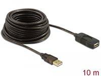Kabel DELOCK, USB 2.0, USB-A (M) na USB-A (Ž), produžni, 10m