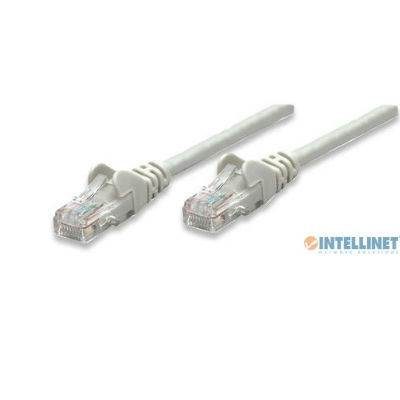 Kabel Intellinet, patch CAT5e, U/UTP, sivi, 3.0m