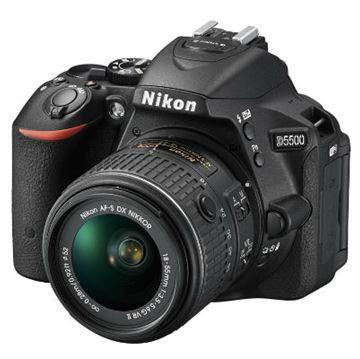 Digitalni fotoaparat NIKON D5500, 24.2 Mpixela, 3x optički zoom, SD/SDHC/SDXC, Wifi, USB, + objektiv 18-55VRII, crni