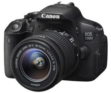 Digitalni fotoaparat CANON EOS 700D + objektiv EFS 18-55 ISSTM, 18 Mpixela, SD, SDHC, SDXC, HDMI