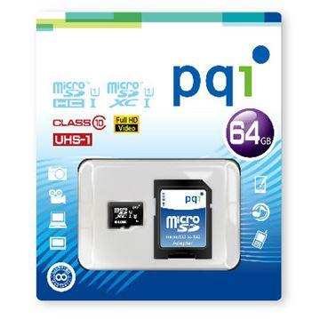 Memorijska kartica PQI, Micro SDHC, 64 GB Class 10 UHS-1 + adapter
