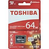 Memorijska kartica TOSHIBA, Micro SDXC, 64 GB, class 10 UHS-1  + adapter