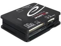 Čitač memorijskih kartica DELOCK USB, All In One, crni
