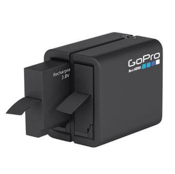 Dodatak za sportske digitalne kamere GOPRO HERO 4, Dual Battery Charge, punjač za dvije baterije + baterija, usb kabel