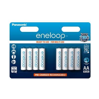 Baterija PANASONIC Eneloop BK3MCCE8BE, tip AA, punjive, 8kom
