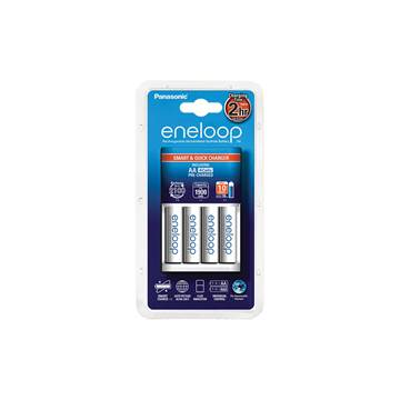 Punjač baterija PANASONIC Eneloop Smart KKJ16MCC40E, brzi, 4 mjesta za punjenje + 4x 1900mAh AA baterije