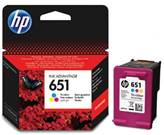 Tinta za HP br. 651, C2P11AE, za Deskjet AI 5575/5645/OfficeJet 202/252, tri-colour