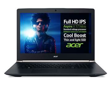 "Prijenosno računalo ACER Aspire V17 NITRO VN7-792G-73EK NX.G6TEX.032 / Core i7 6700HQ, DVDRW, 8GB, 1000GB + 128 GB SSD, GeForce GTX 960M, 17.3"" LED FHD, HDMI, USB 3.1, DOS, crno"