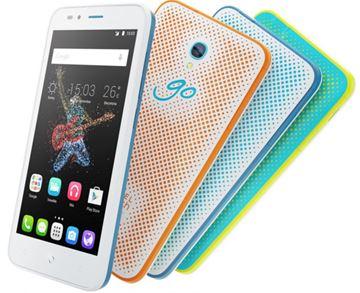 "Smartphone ALCATEL Onetouch GO PLAY OT-7048X, 5"" IPS multitouch, QuadCore Cortex A53 1.2GHz, 1GB RAM, 8GB Flash, microSD, kamera, Android 5.0, crno-crveni"
