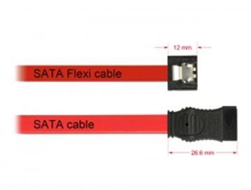 Kabel DELOCK, SATA Flexi 6GB/s, 70 cm, crveni-metalni