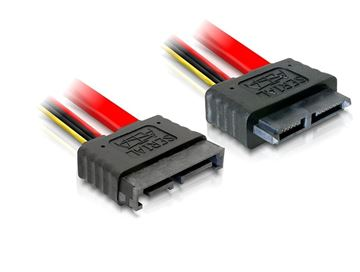 Kabel DELOCK, Slim SATA 13-pin (M) na SATA 13-pin (Ž), produžni, 50 cm