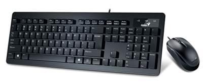 Tipkovnica + miš GENIUS SlimStar C130, crna, USB